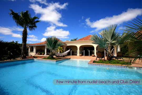 Luxurious villa rental with private swimming pool in orient beach resort - Saint Martin